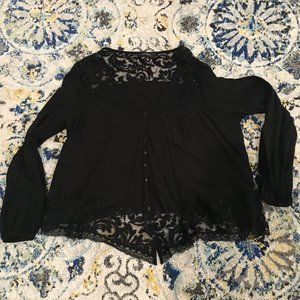 Karen Kane Black Lace Top